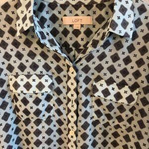 Loft lite button down shirt